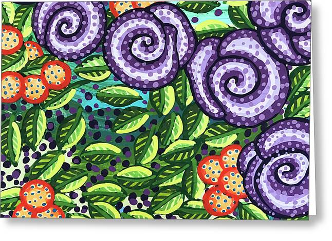 Floral Whimsy 11 Greeting Card