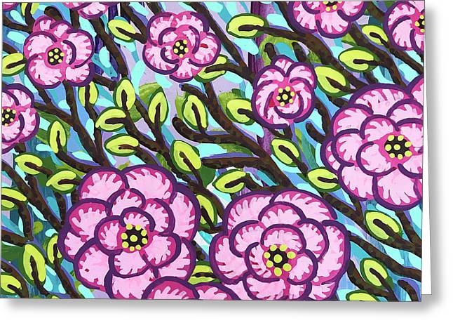 Floral Whimsy 3 Greeting Card