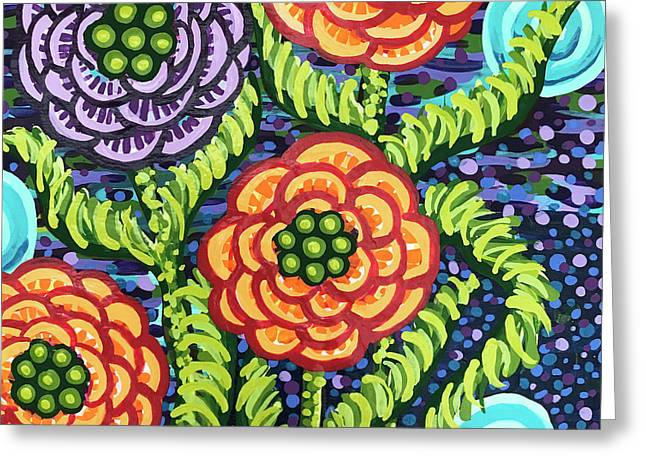 Floral Whimsy 5 Greeting Card