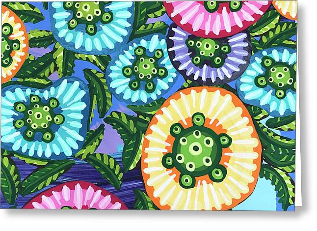 Floral Whimsy 6 Greeting Card