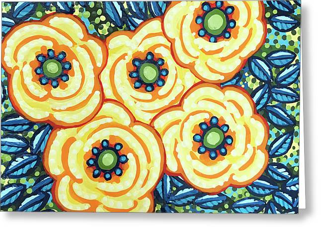 Floral Whimsy 7 Greeting Card