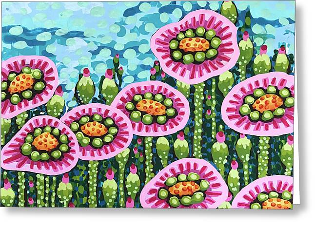 Floral Whimsy 8 Greeting Card