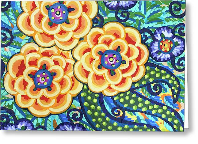 Floral Whimsy 9 Greeting Card