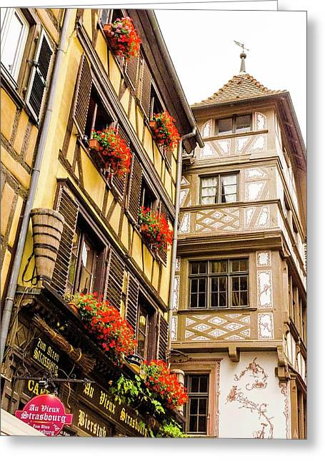 Flower Boxes Strasbourg Greeting Card