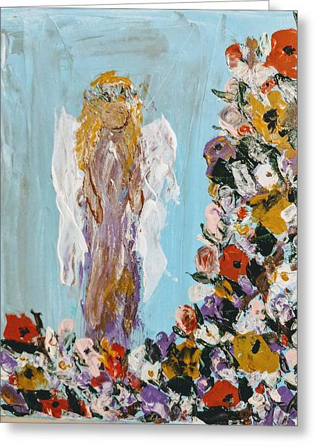 Flower Child Angel Greeting Card