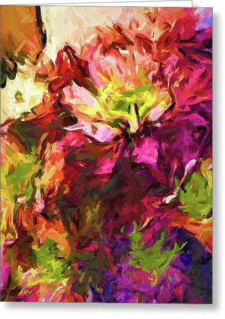 Flower Colour Love 2 Greeting Card
