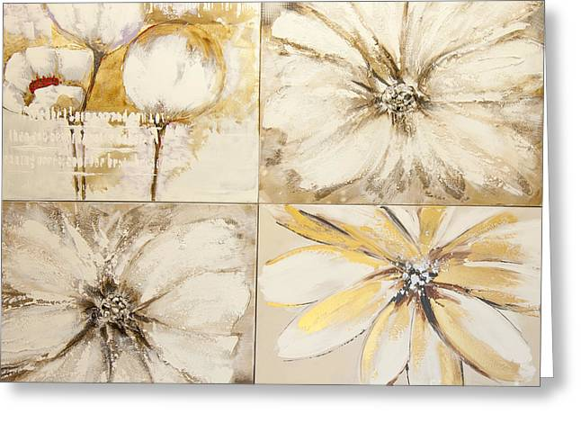 Flower Paintings Greeting Card