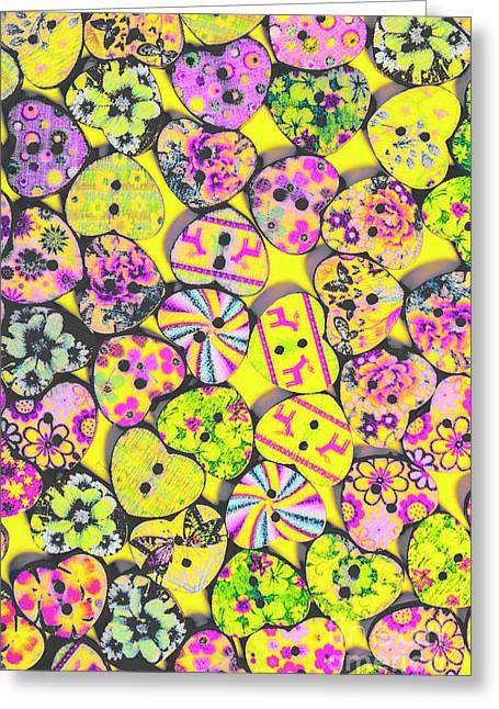 Flower Power Patterns Greeting Card