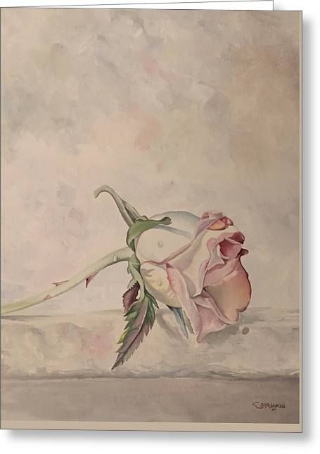 Greeting Card featuring the painting Flower by Said Marie