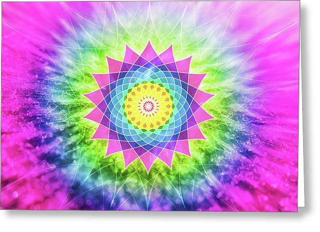 Flowering Mandala Greeting Card