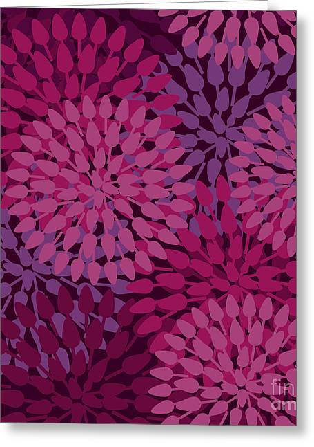 Flowers Abstract Seamless Vector Greeting Card