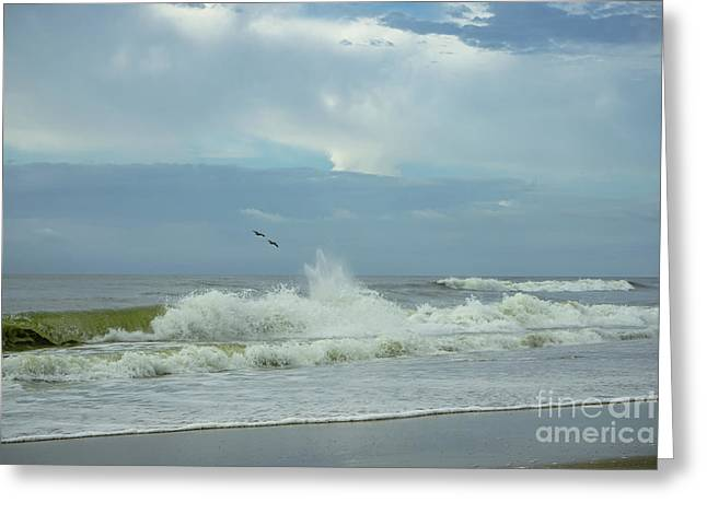 Fly Above The Surf Greeting Card