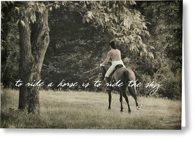 Fly Like Pegasus Quote Greeting Card by JAMART Photography