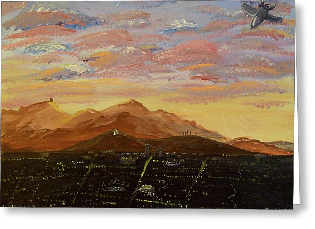 Flying Over Tucson Greeting Card
