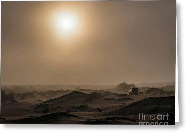 Foggy Morning In The Namib Desert Greeting Card