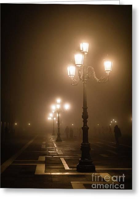 Foggy Piazza San Marco, Venice Greeting Card
