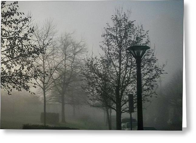 Greeting Card featuring the photograph Foggy Street by Juan Contreras