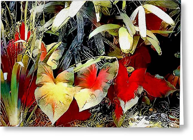 Greeting Card featuring the digital art Foilage by Pennie McCracken