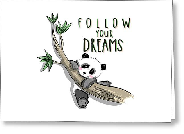 Follow Your Dreams - Baby Room Nursery Art Poster Print Greeting Card