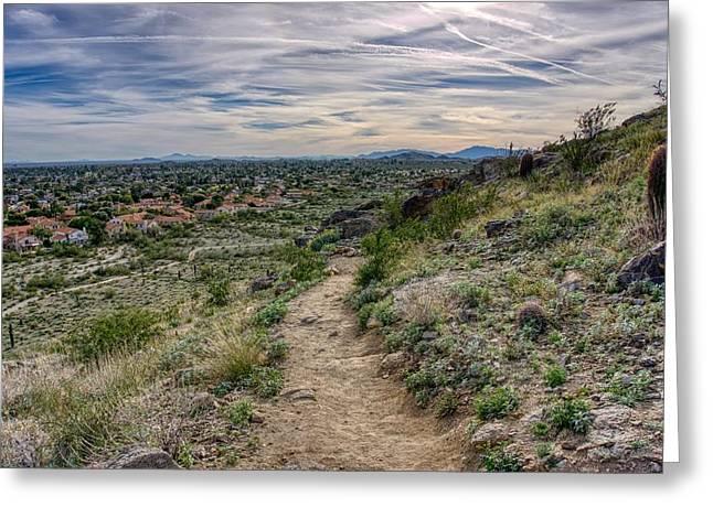 Following The Desert Path Greeting Card