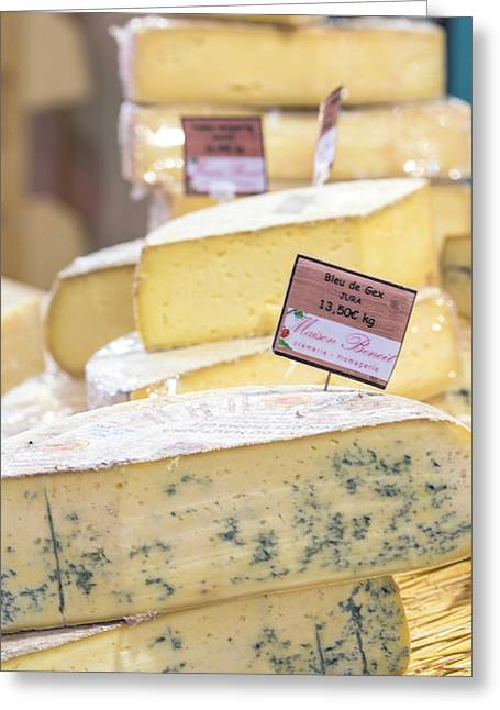 Food Cheese, Food Market, Dijon Greeting Card by Jim Engelbrecht