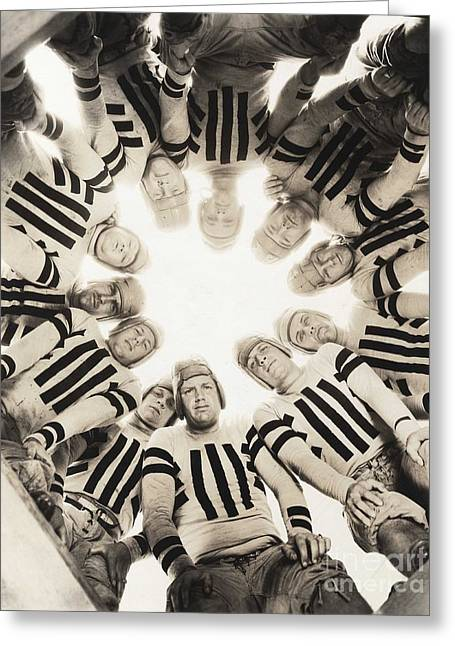 Football Huddle Greeting Card