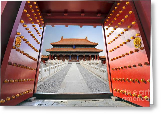 Forbidden City In Beijing , China Greeting Card