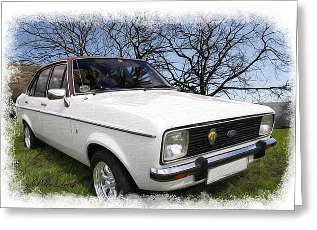 Ford Escort Greeting Card