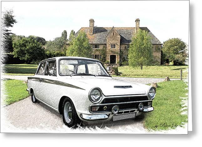 Ford 'lotus' Cortina Greeting Card