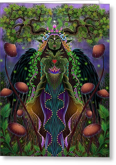 Forest Spirit Natura Greeting Card