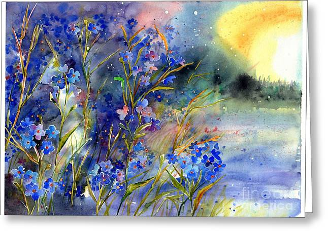 Forget-me-not Watercolor Greeting Card