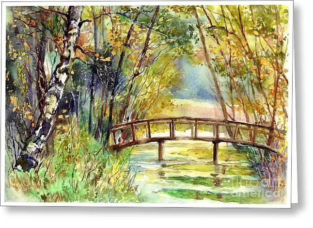 Forgotten Bridge Greeting Card