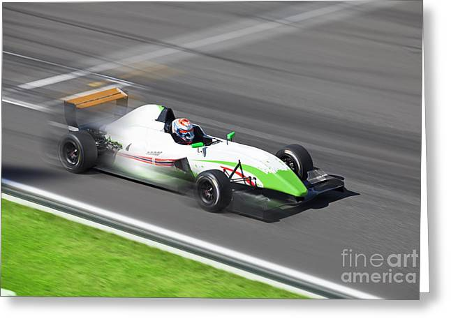 Formula 2.0  Race Car Racing On Speed Greeting Card