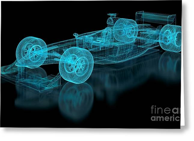 Formula One Mesh. Part Of A Series Greeting Card