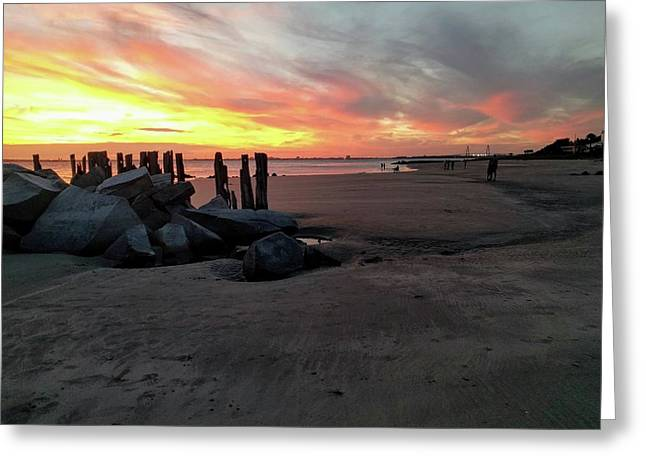 Fort Moultrie Sunset Greeting Card