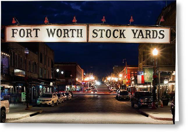 Fort Worth Stock Yards 112318 Greeting Card