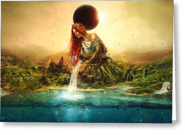 Fountain Of Eternity Greeting Card