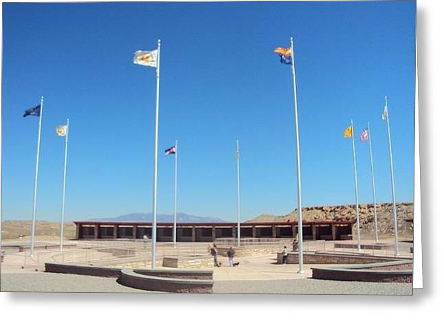 Four Corners Monument Greeting Card