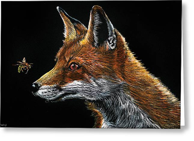 Fox And Hornet Greeting Card