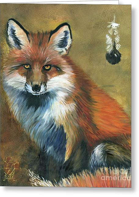 Fox Shows The Way Greeting Card