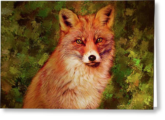 Foxy Greeting Card