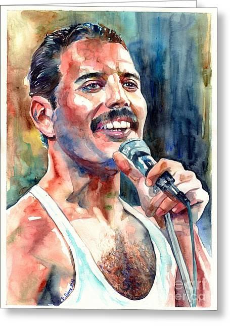 Freddie Mercury Live Aid Greeting Card