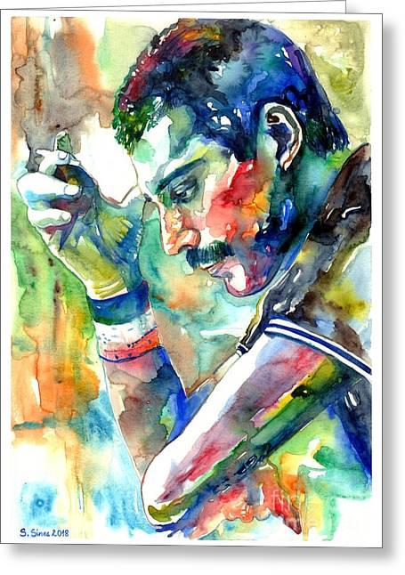 Freddie Mercury With Cigarette Greeting Card