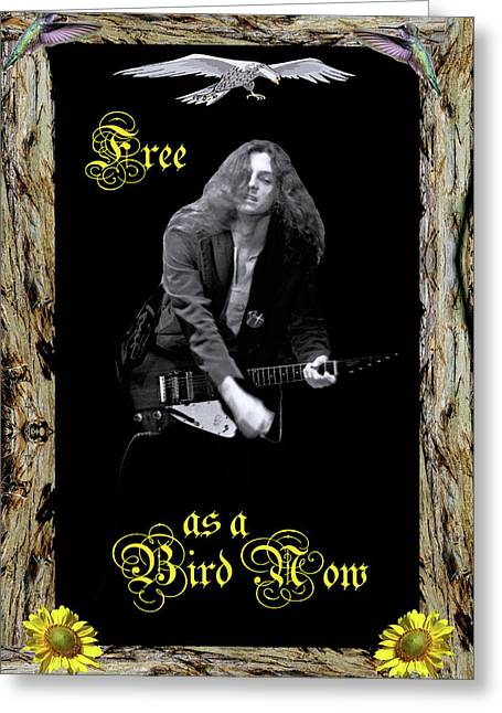 Greeting Card featuring the photograph Free As The Bird With Text #2 by Ben Upham