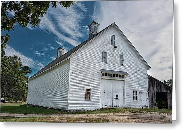 Greeting Card featuring the photograph Freeport Barn by Guy Whiteley