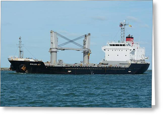 Greeting Card featuring the photograph Freighter Balsa 87 by Bradford Martin