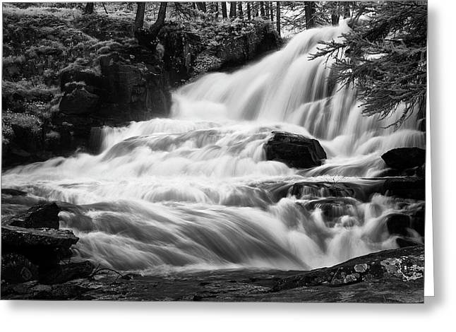 French Alps Stream Greeting Card