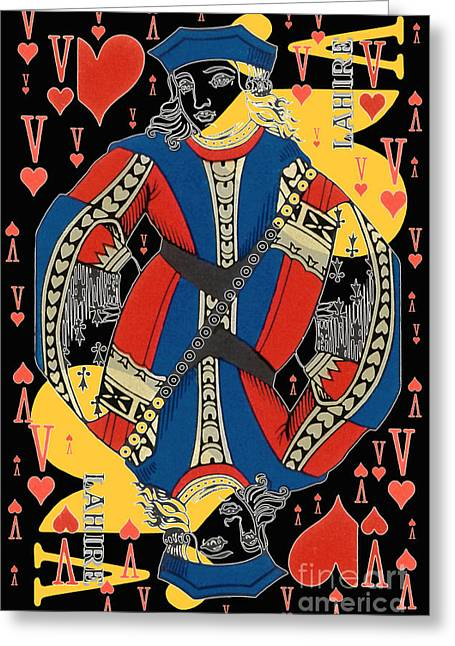 French Playing Card - Lahire, Valet De Coeur, Jack Of Hearts Pop Art - #2 Greeting Card
