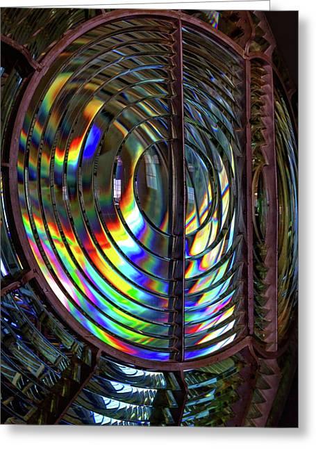 Fresnel Lens Point Arena Lighthouse Greeting Card