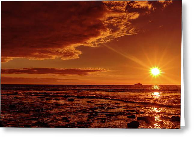 Friday Sunset Greeting Card